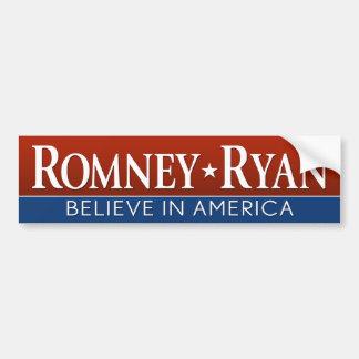 Romney Ryan - Believe in America Car Bumper Sticker