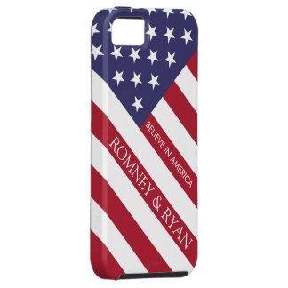 Romney Ryan Believe in America Flag iPhone 5 Case