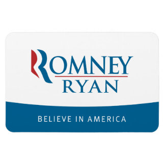 Romney Ryan Believe in America Flexi Magnet