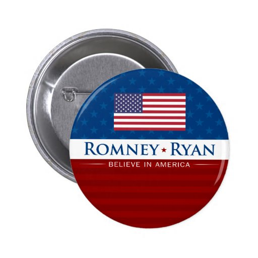 Romney & Ryan Believe in America Pin