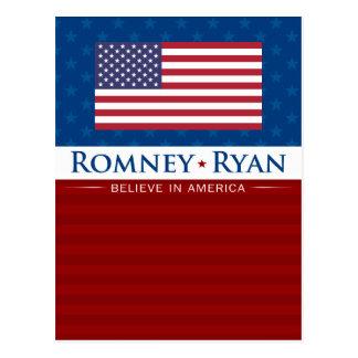 Romney & Ryan Believe in America Post Cards