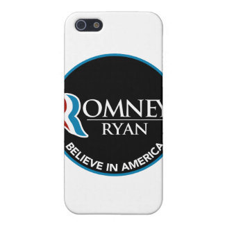 Romney Ryan Believe In America Round Black iPhone 5 Covers