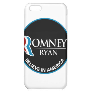 Romney Ryan Believe In America Round Black iPhone 5C Cases