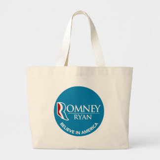 Romney Ryan Believe In America Round Blue Tote Bags