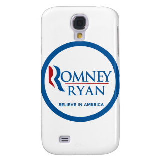 Romney Ryan Believe In America Round Blue Border Samsung Galaxy S4 Covers