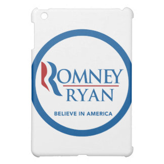 Romney Ryan Believe In America Round Blue Border Cover For The iPad Mini