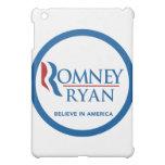 Romney Ryan Believe In America Round Blue Border iPad Mini Case