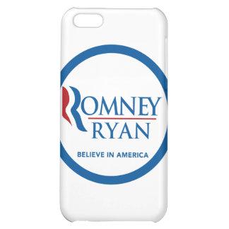 Romney Ryan Believe In America Round Blue Border iPhone 5C Cases