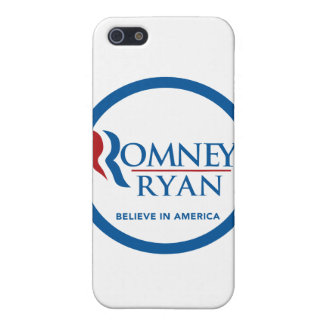 Romney Ryan Believe In America Round Blue Border iPhone 5 Case