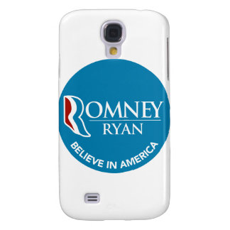 Romney Ryan Believe In America Round Blue Galaxy S4 Cover