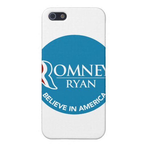 Romney Ryan Believe In America Round Blue iPhone 5 Case