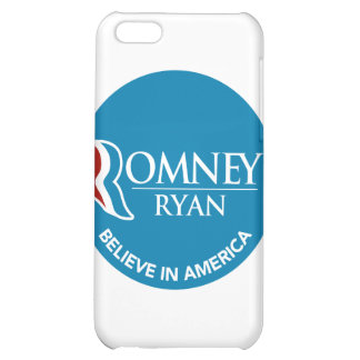 Romney Ryan Believe In America Round Blue Case For iPhone 5C