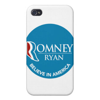 Romney Ryan Believe In America Round Blue iPhone 4/4S Cover