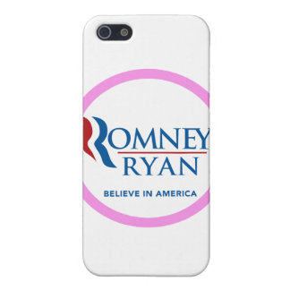 Romney Ryan Believe In America Round (Pink Border) Cover For iPhone 5
