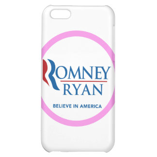 Romney Ryan Believe In America Round (Pink Border) iPhone 5C Covers
