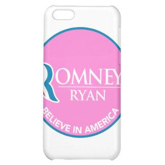 Romney Ryan Believe In America Round Pink Case For iPhone 5C