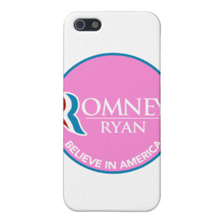 Romney Ryan Believe In America Round Pink Covers For iPhone 5