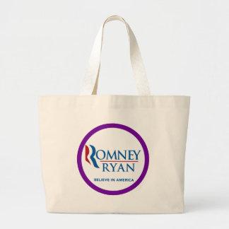 Romney Ryan Believe In America Round Purple Border Bag