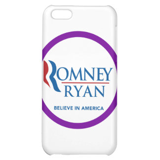Romney Ryan Believe In America Round Purple Border iPhone 5C Case