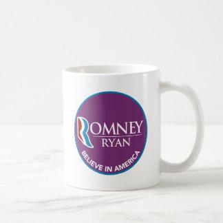 Romney Ryan Believe In America Round Purple Coffee Mug