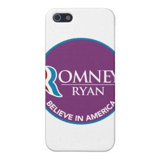 Romney Ryan Believe In America Round Purple iPhone 5 Cases