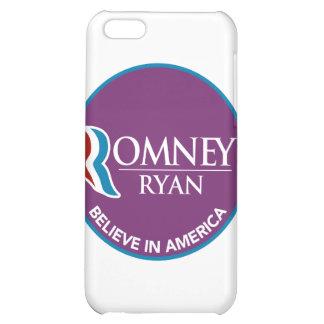Romney Ryan Believe In America Round Purple iPhone 5C Case