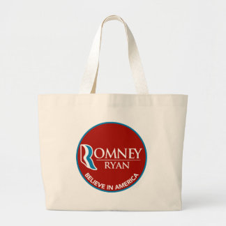 Romney Ryan Believe In America Round Red Canvas Bags