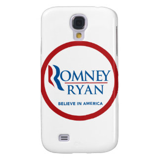 Romney Ryan Believe In America Round (Red Border) Samsung Galaxy S4 Covers