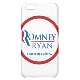 Romney Ryan Believe In America Round (Red Border) Case For iPhone 5C
