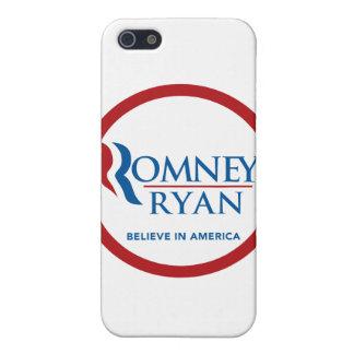 Romney Ryan Believe In America Round (Red Border) iPhone 5 Case