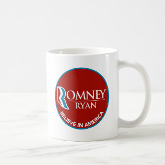 Romney Ryan Believe In America Round Red Coffee Mug