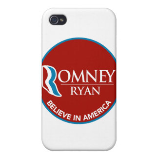Romney Ryan Believe In America Round Red iPhone 4/4S Case