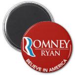 Romney Ryan Believe In America Round Red Refrigerator Magnet