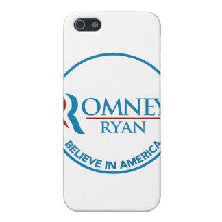 Romney Ryan Believe In America Round White Cover For iPhone 5