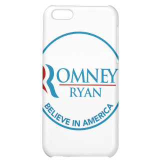 Romney Ryan Believe In America Round White Case For iPhone 5C