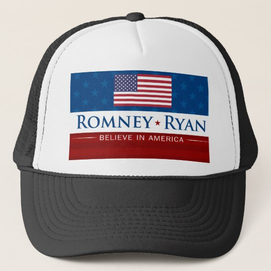 Romney & Ryan Believe in America Trucker Hat
