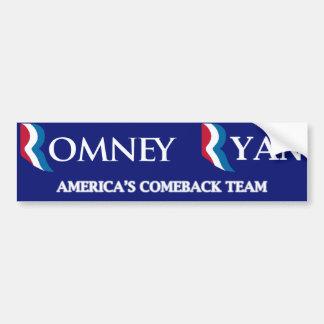 Romney Ryan Bumper Sticker Car Bumper Sticker