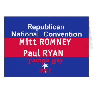 Romney Ryan Card