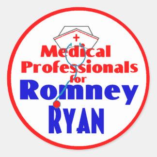 Romney Ryan Classic Round Sticker