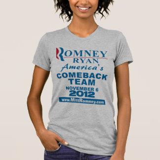 Romney Ryan Comeback Team T-Shirt