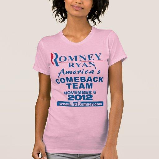 Romney Ryan Comeback Team Tee Shirt