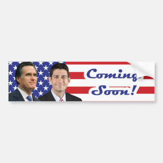 Romney-Ryan - Coming Soon! Bumper Sticker