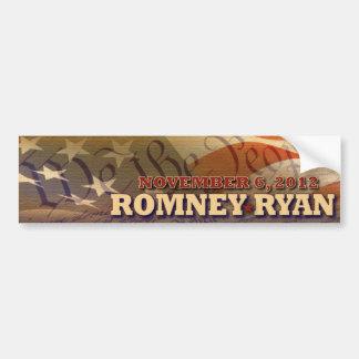 Romney - Ryan - constitución -- 6 de noviembre de  Pegatina Para Auto