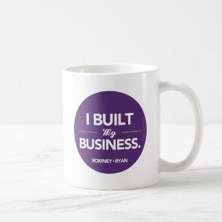 Romney Ryan construí mi negocio redondo (púrpura) Taza