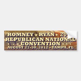 Romney - Ryan - convenio nacional republicano Pegatina Para Auto
