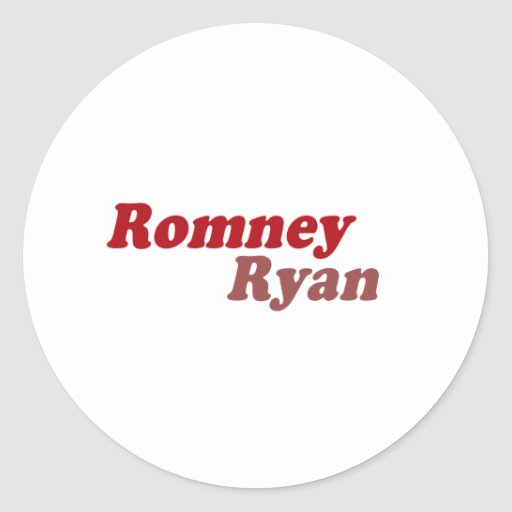 ROMNEY RYAN COOPER.png Classic Round Sticker