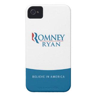 Romney Ryan cree en caso del iPhone 4 de América Case-Mate iPhone 4 Protectores