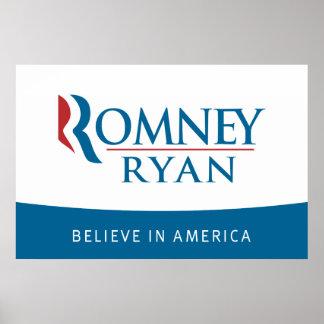 Romney Ryan cree en el poster de América
