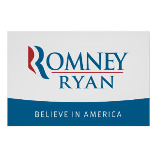 Romney Ryan cree en el poster de América Póster