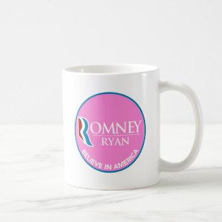 Romney Ryan cree en el rosa redondo de América Taza Clásica